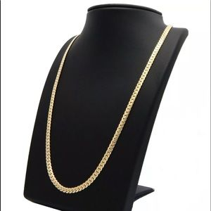"""Other - 14K Miami Cuban 6mm Necklace 26"""" Gold Plated"""